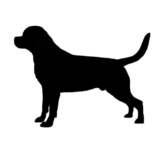 Rottweiler Silhouette Vinyl Sticker Decal