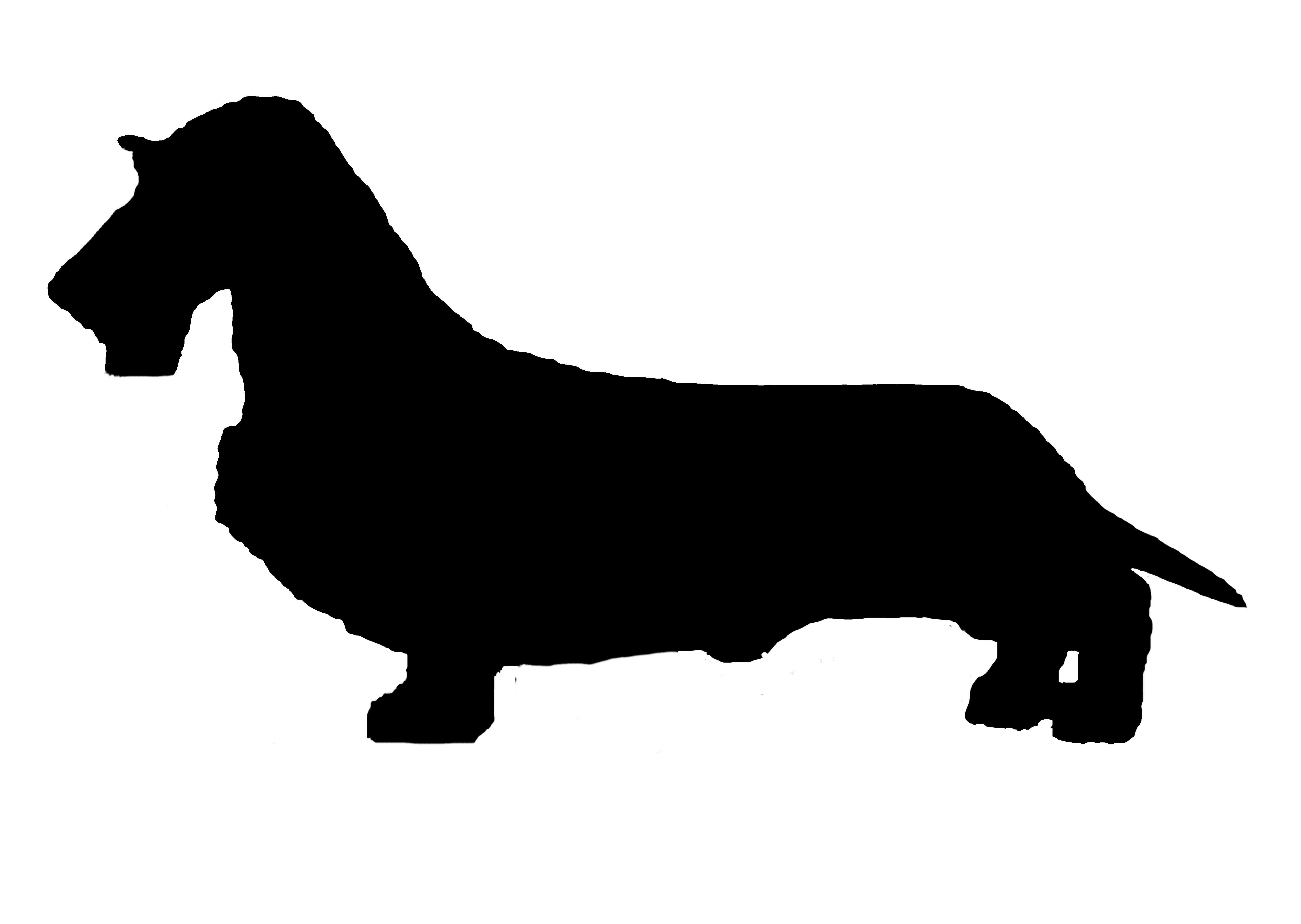 dachshund silhouette vinyl sticker decal